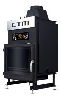Krb s výměníkem CTM AQUAFIRE BASE 22 kW, panoramatické sklo