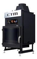 Krb s výměníkem CTM AQUAFIRE BASE 17 kW, panoramatické sklo