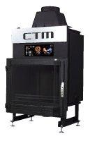 Krb s výměníkem CTM AQUAFIRE BASE 13 kW, prizmatické sklo