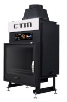 Krb s výměníkem CTM AQUAFIRE PLUS 22 kW, rovné sklo