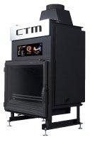 Krb s výměníkem CTM AQUAFIRE BASE 13 kW, rovné sklo